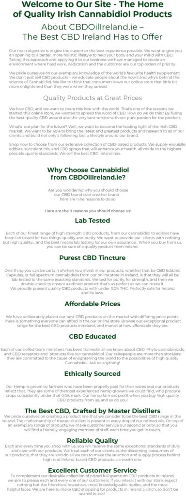 cbd homepage